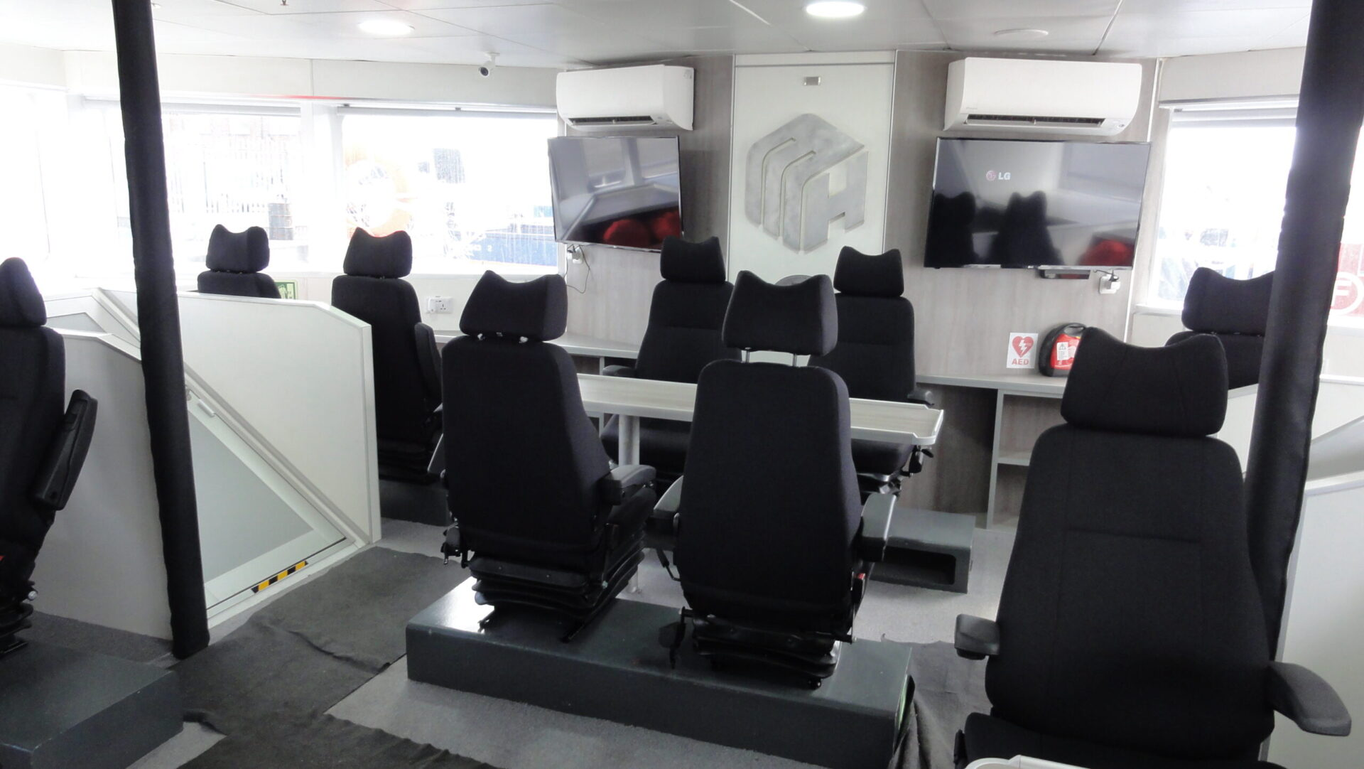 interior of MHO ship. - Seating arrangements.
