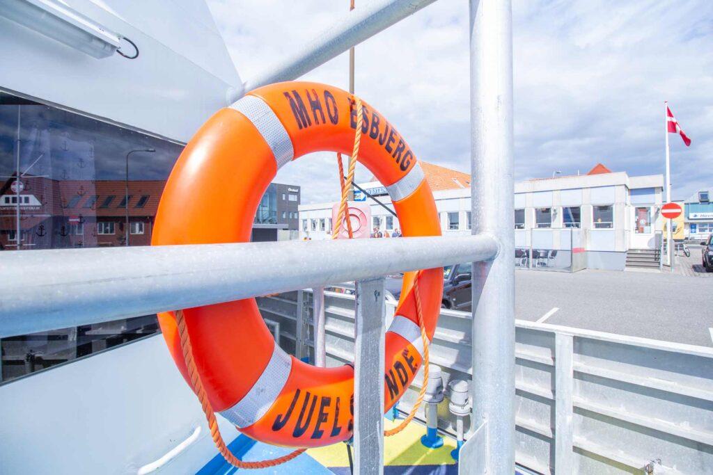 MHO Esbjerg life-saver on the ship